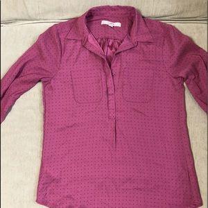 Ann Taylor Loft pullover button down